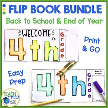 BTS - EOY Flip Book BUNDLE - 4th Grade