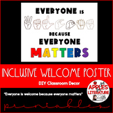 BTS Inclusive Class Poster Everyone is WELCOME because eve