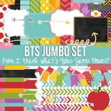 Digital Papers and Frames Back to School Set