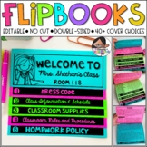 Back to School and Meet the Teacher Flip Book ( Editable NO CUT Flipbook )
