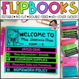 Back to School   Meet the Teacher   Open House (Editable No Cut Flipbook)