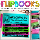 Back to School and Meet the Teacher Flip Book ( Editable NO CUT Flipbook )