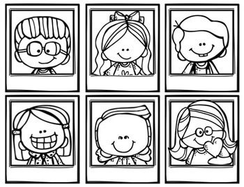 Classroom Supplies Wish List Selfies (Colorful Kiddos Set 1)
