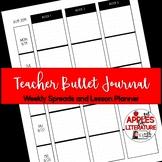 BTS Weekly Spreads & Lesson Plans Teacher Bullet Journal Teacher Forms