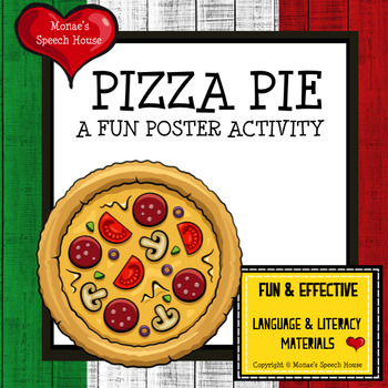 PIZZA POSTER Speech Therapy PRE-K
