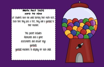 BUBBLE GUM math fact tests