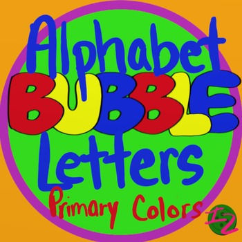 BUBBLE LETTERS - Primary Colors (224 Pages)