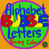 BUBBLE LETTERS - Primary Colors (224 Images)
