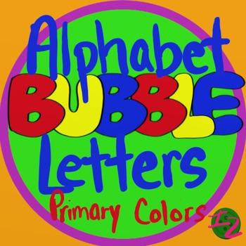 BUBBLE LETTERS - Primary Colors (224 Images)
