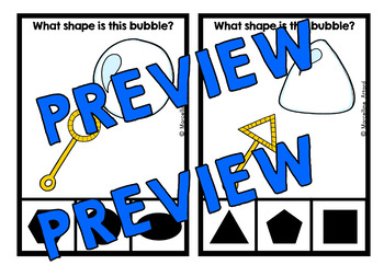 BUBBLE SHAPES CENTER (KINDERGARTEN GEOMETRY ACTIVITIES)