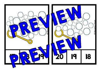 BUBBLES MATH CENTER: BUBBLES COUNTING CLIP CARDS: NUMBERS 1-20 COUNTING CENTER