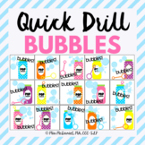 Quick Drill BUBBLES {for speech therapy or any skill drill}