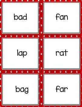 BUCKLEY BINGO Set 2 Early Learning Sight Words K-2 CVC with a