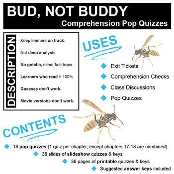 BUD, NOT BUDDY 18 Pop Quizzes Bundle