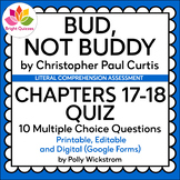 BUD, NOT BUDDY | CHAPTERS 17-18 PRINTABLE, EDITABLE, DIGIT