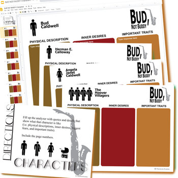 BUD, NOT BUDDY Characters Organizer (Created for Digital)