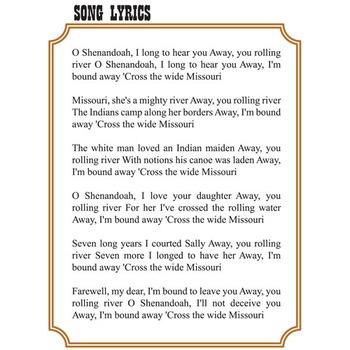BUD, NOT BUDDY Shenandoah Song Analysis