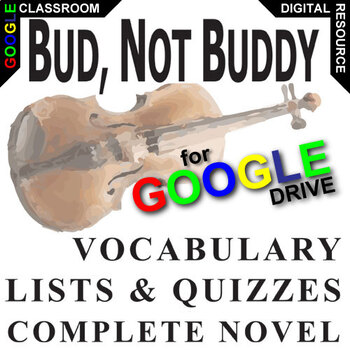 BUD, NOT BUDDY Vocabulary List and Quiz Assessment (Created for Digital)
