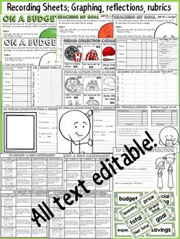 BUDGETING FINANCIAL PLANNING AND GRAPHING: FINANCIAL LITERACY(EDITABLE)