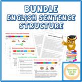 "BUDLE Mini-lesson ""English Sentence Structure"" - Theory, Exercises, Worksheet"