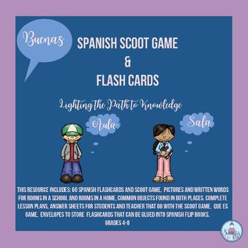 BUENAS: Spanish SCOOT Game & Flash Cards (4-8)