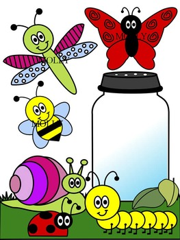 BUG CLIP ART * COLOR AND BLACK AND WHITE