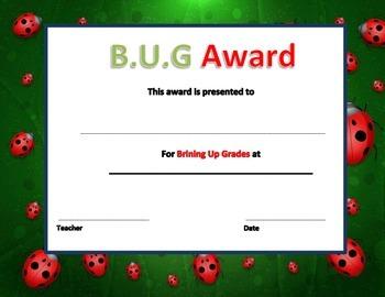 BUG Certificate (bringing up grades)