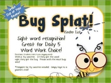 BUG SPLAT Sight Word Practice - Kinder