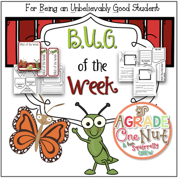 B.U.G. of the Week {Being an Unbelievably Good Student  of the Week Program}