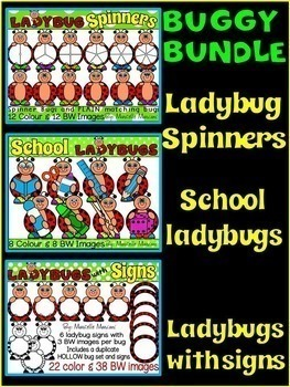 LADYBUG  CLIP ART BUNDLE (100 IMAGES) COMMERCIAL USE