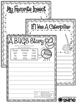 BUGS! Insects Literacy Activities & A Craftivity! BUNDLE