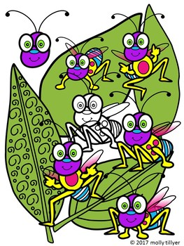 BUGS CLIPART * COLOR AND BLACK AND WHITE