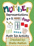 Number Representation Math Activity (Bugs theme)