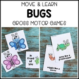 BUGS Move & Learn Gross Motor Games - Preschool, Pre-K, & Kinder