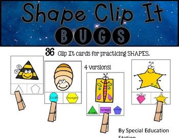 BUGS Shape Clip It {A Beginning Work Task)