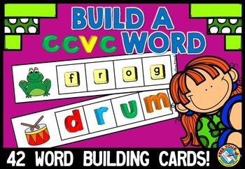 BUILD A CCVC WORD: WORD WORK LITERACY CENTER: CCVC WORD BU