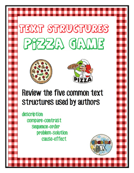 BUILD A CHART and A PIZZA text structures review game with