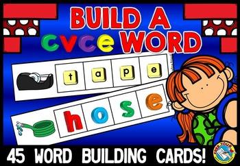LONG VOWELS ACTIVITIES: CVCE WORD WORK CENTER: CVCE WORD BUILDING CARDS