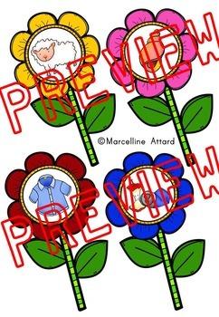SPRING ACTIVITIES KINDERGARTEN (FLOWER DIGRAPHS SORT GAME)
