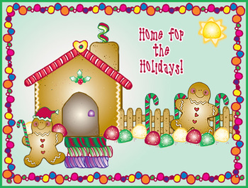Build a Gingerbread Home Clip Art Download