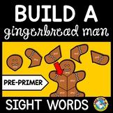 CHRISTMAS ACTIVITIES KINDERGARTEN (GINGERBREAD MAN SIGHT WORDS RECOGNITION GAME