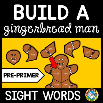CHRISTMAS ACTIVITIES KINDERGARTEN (GINGERBREAD MAN SIGHT WORDS RECOGNITION GAME