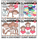 BUILD A LOVE MONKEY CLIP ART SET