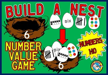NUMBER SENSE ACTIVITIES: BUILD A NEST NUMBER SENSE GAME: S