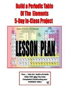 $8.50 . . .BUILD A PERIODIC TABLE OF THE ELEMENTS  -  5-DAY  IN-CLASS PROJECT