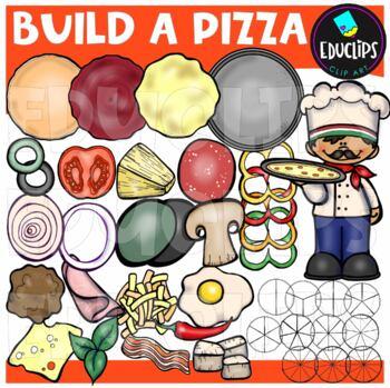 Build A Pizza Clip Art Bundle {Educlips Clipart}