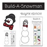 BUILD A SNOWMAN - Rhyming Winter Activity - Bulletin Board