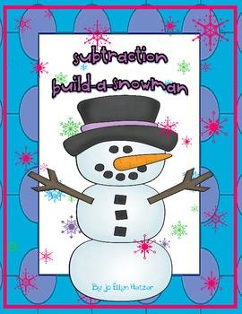 BUILD A SNOWMAN - SUBTRACTION {game / center}
