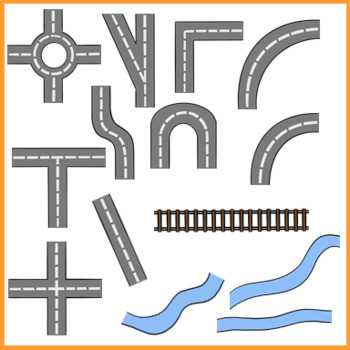 BUILD A TOWN MAP CLIP ART