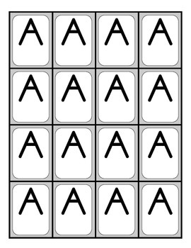 BUILD A WORD LETTER TILES (UPPER AND LOWERCASE)